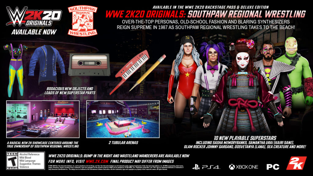 WWE2K20 Originals Southpaw Regional Wrestling