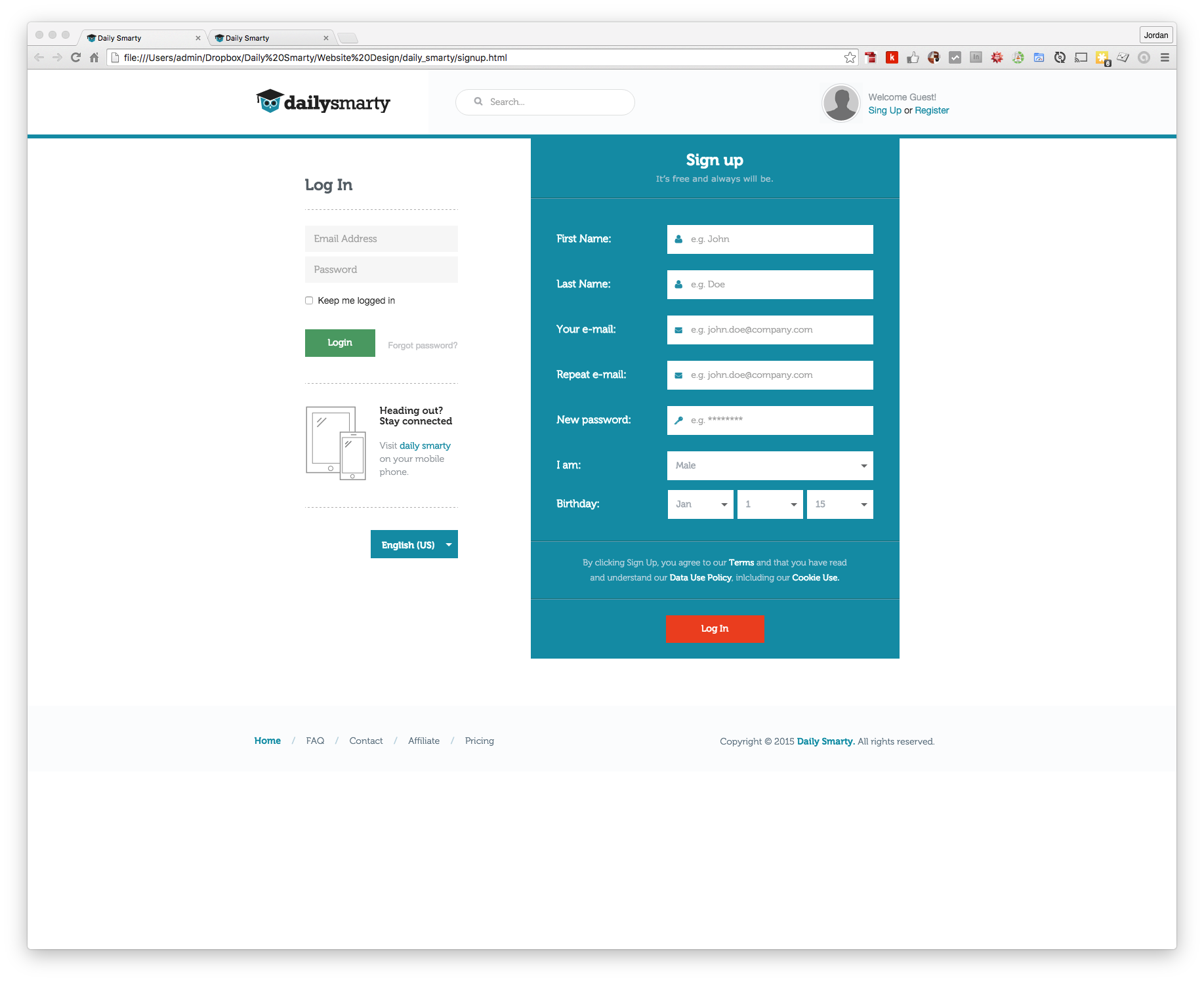 Customizing the design of a devise registration page falaconquin