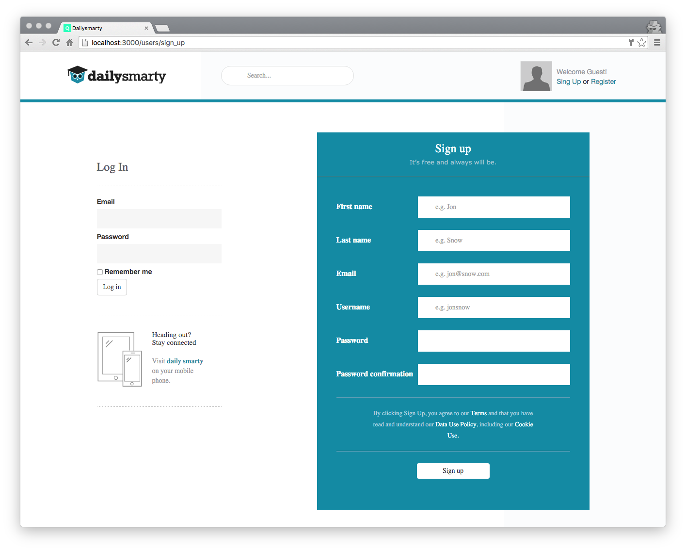 Customizing the Design of a Devise Registration Page