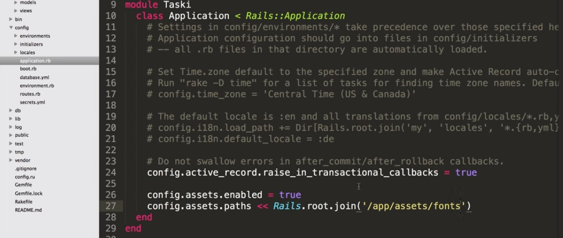 application root rails