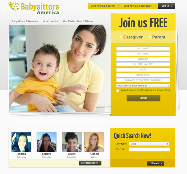 Babysitters America – Ruby on Rails online service