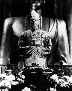 "Actor Boris Karloff starred as the criminal mastermind in ""The Mask of Fu Manchu"" (MGM 1932)"