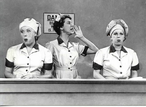 "Allman enters TV immortality on the classic candy wrapping line episode of ""I Love Lucy"" with Vivian Vance and Lucille Ball."