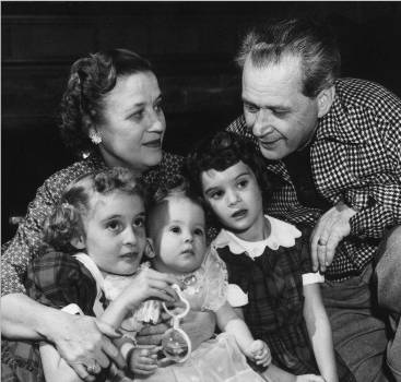 Marion and Jim Jordan enjoy their grandchildren in this NBC photo from 1954.