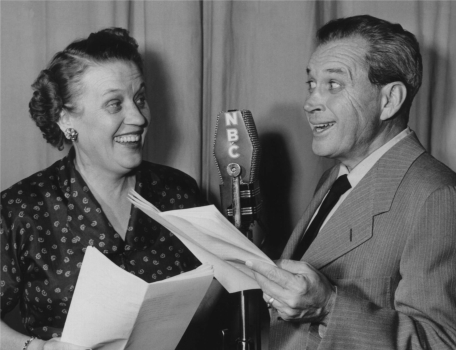 "Marian and Jim Jordan star as ""Fibber McGee and Molly"" on NBC, circa 1954"
