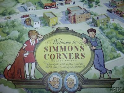 One Radio Orphan Annie premium was a map of Simmons Corners, where she lived with her best friend, Joe Corntassel.