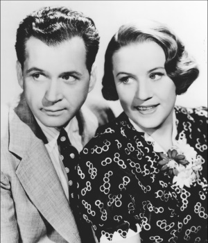 Jim and Marian Jordan, pictured here in a 1940 photo, played Fibber and Molly on radio for 24 years and also in a popular series of films for RKO Radio Pictures.
