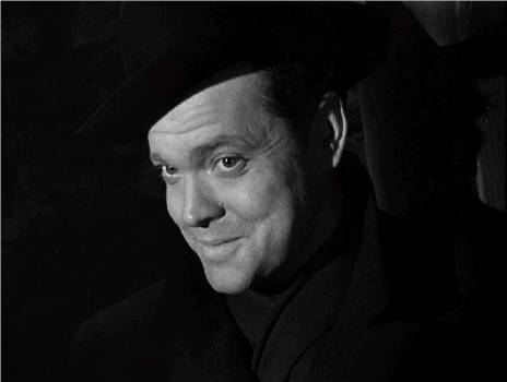"Orson Welles as Harry Lime in ""The Third Man"" (1949)"