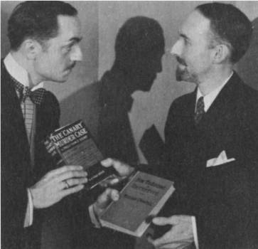 "Screen Vance meets Vance's creator: William Powell and S. S. Van Dine publicizing ""The Canary Murder Case"" in 1929. (Photo courtesy Raymond G. Cabana, Jr.)"