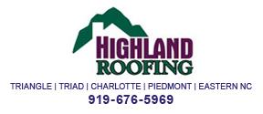 Website for Highland Roofing of North Carolina, LLC