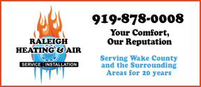 Website for Raleigh Heating & Air, Inc.