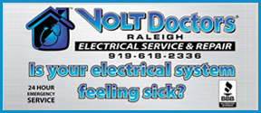 Website for Volt Doctors Raleigh