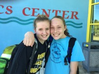 Grace Bunke and Paralympic swimmer McClain Hermes