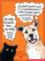 CatDog Birthday Cartoon ECard Animal Lovers