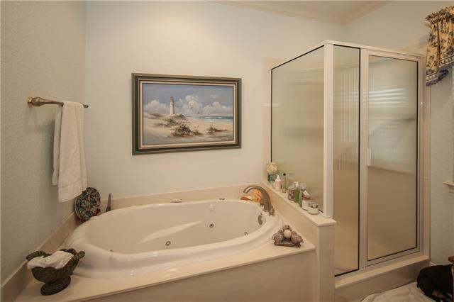Master Bath Jetted tub and separate shower.