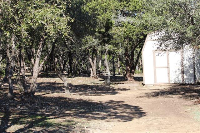 Storage shed on property.