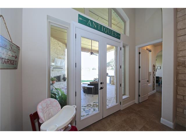 Entry to in-law or guest area that has a private bedroom and bath.