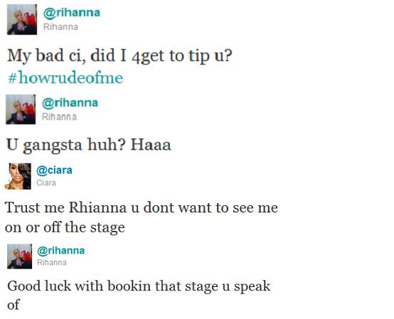 Rihanna Ciara Twitter Beef
