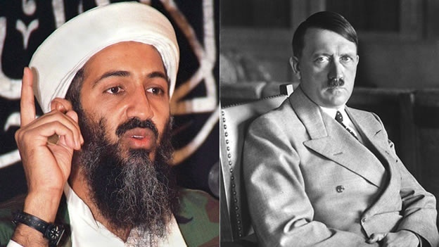 Bin laden and hitler compare and