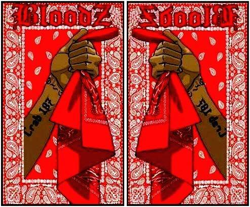 Cause I M A Blood Nigga Red Rag Until I Die Blood Nigga
