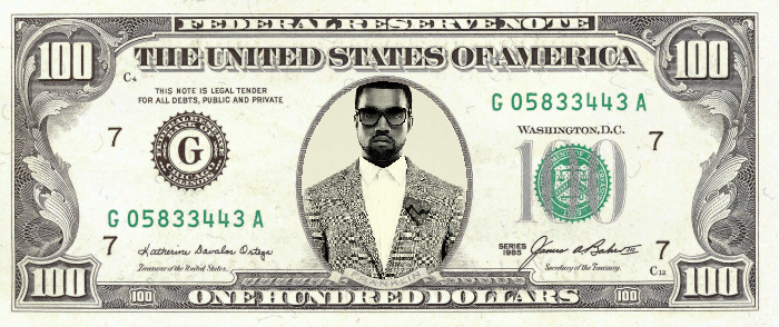 If rappers were on coins and dollar bills rather than for Custom fake money template