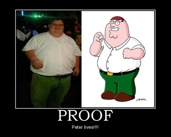 And I just got paid pockets fatter than Peter Griffin