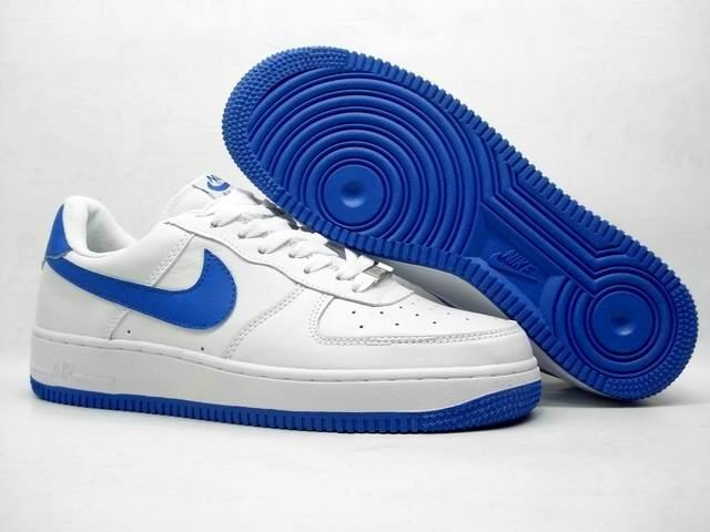 Royal Blue Air Force Ones Shoes