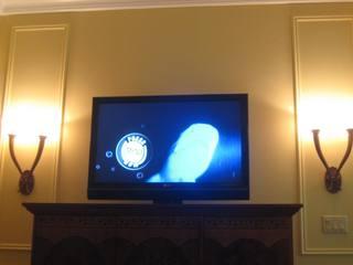 TWO plasma screens inside