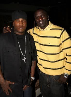 Photo of Young Jeezy & his friend musician  Akon -