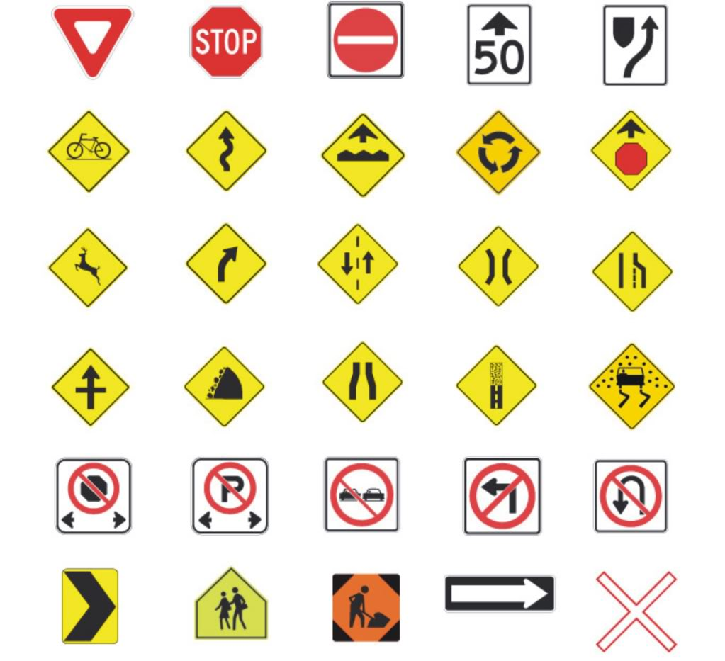 Pyrite Club | Images: All Traffic Signs With Names