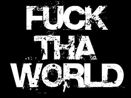 Can Fuck the world today lyrics are