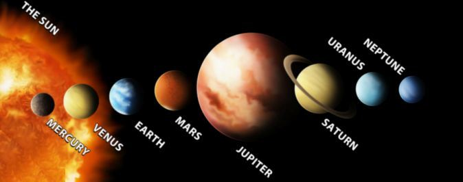 row planets in space - photo #48