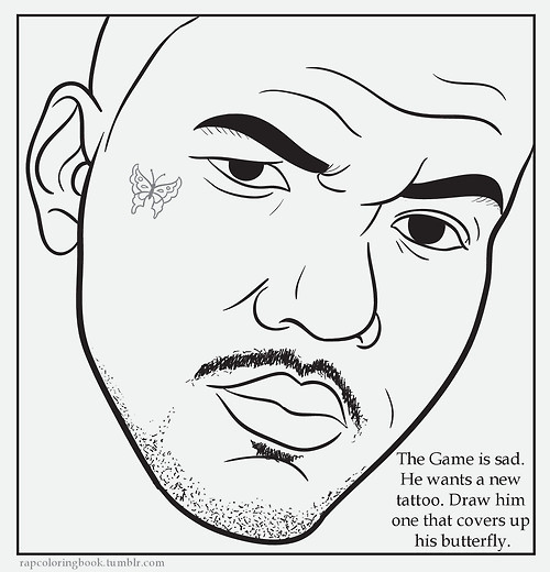 Rap coloring book genius for Rapper coloring pages