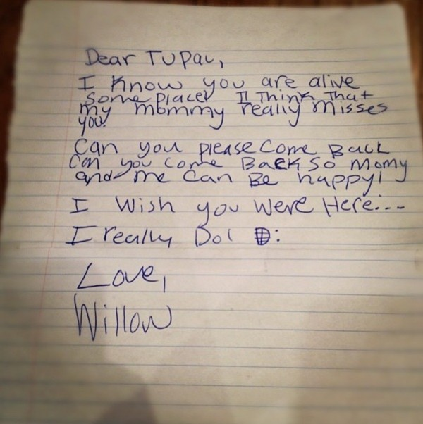 Willow Smith pens letter to Pac