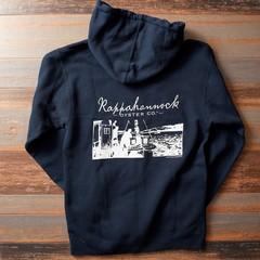 Navy Zipped Sweatshirt