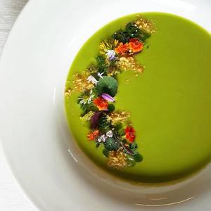 Chilled white gazpacho
