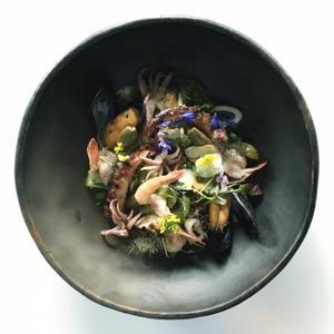 Seafood panzanella
