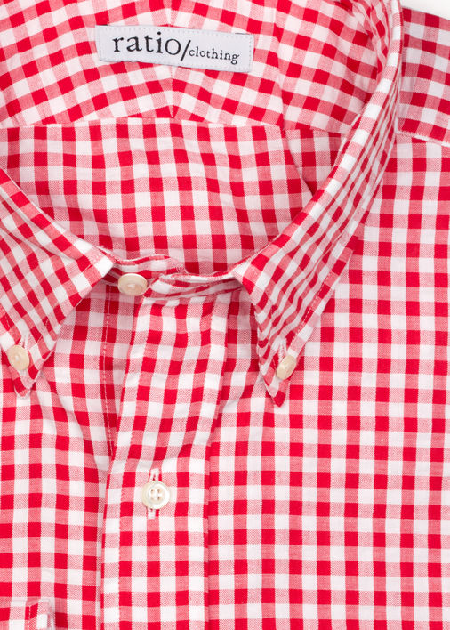 Red Gingham Seersucker