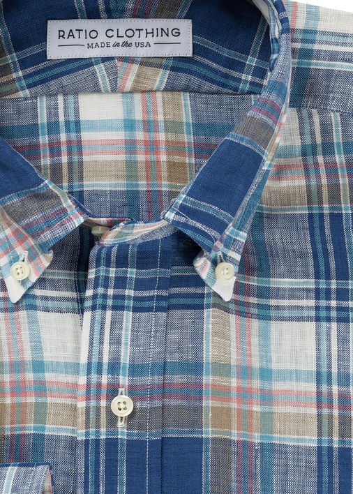 Windward Plaid Linen