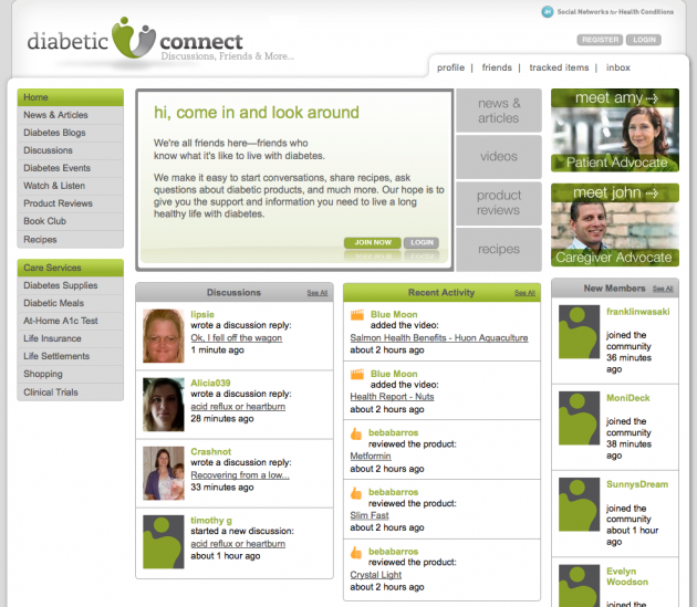 Niche Social Networks - diabetic connect