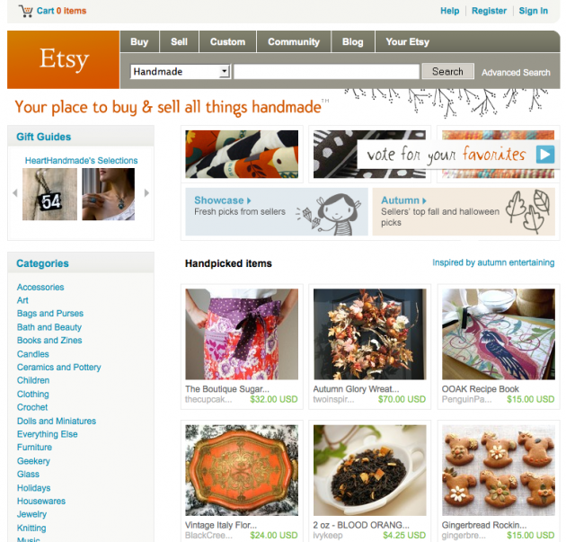 Niche Social Networks - Etsy