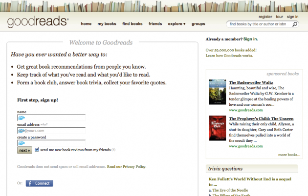 Niche Social Networks - goodreads
