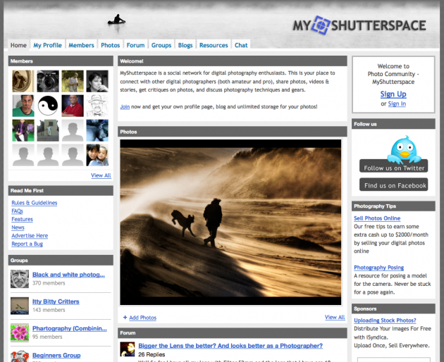 Niche Social Networks - my shutter space
