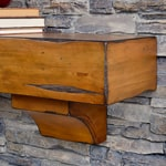 Rustic Mantel Shelves