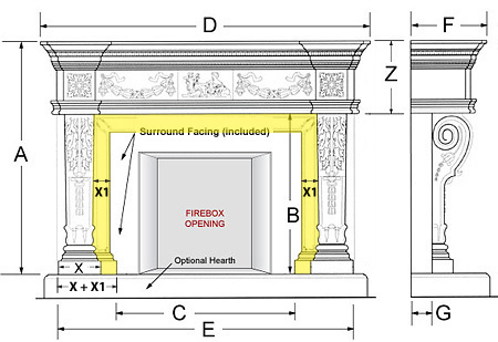 Balmoral Majestic Series Stone Fireplace Mantel