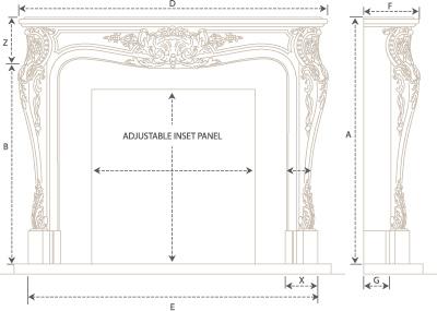 Louis II Classic Series Stone Fireplace Mantel