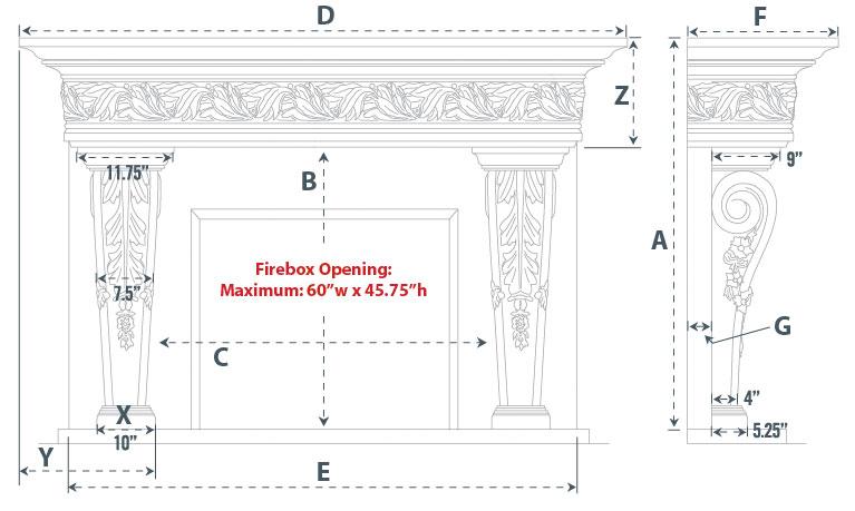 Norwich Majestic Series Stone Fireplace Mantel