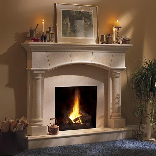 Peachy Barrington Classic Stone Fireplace Mantel Mantelsdirect Com Download Free Architecture Designs Ferenbritishbridgeorg
