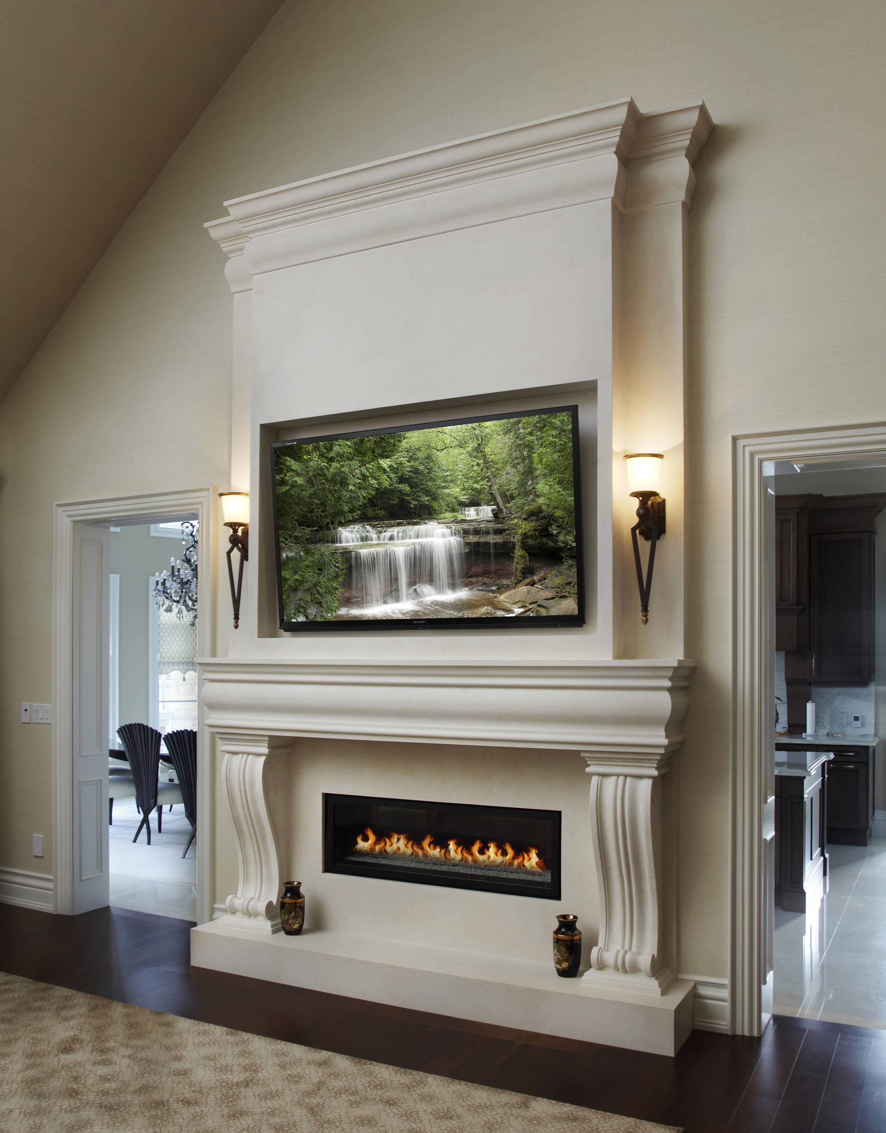 Awe Inspiring Claire Classic Stone Fireplace Mantel Mantelsdirect Com Download Free Architecture Designs Ferenbritishbridgeorg
