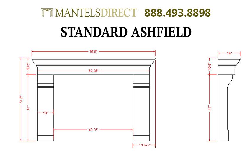Ashfield Classic Series Stone Fireplace Mantel